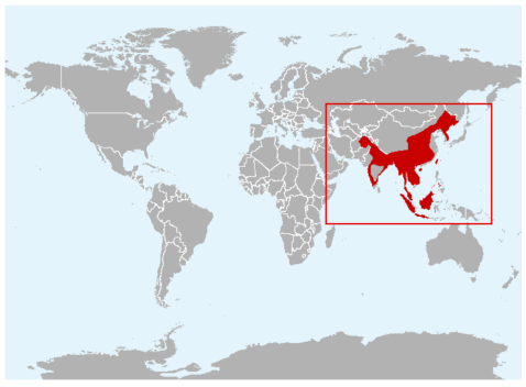 Leopard cat map international society for endangered cats isec leopard cat map gumiabroncs Images